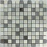 Naturstein Mosaikfliesen Beige Grau Bad Küche Dekor