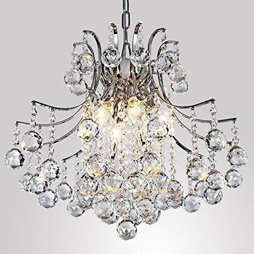 Moderner Kristall-Kronleuchter mit 6 Lampen, moderne Deckenleuchte, Schlafzimmer, Wohnzimmer - Flush-mount-schiene