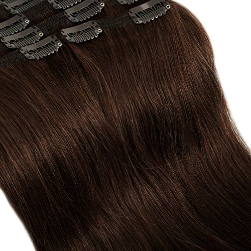 60cm extension clip capelli veri double volume lunga 24