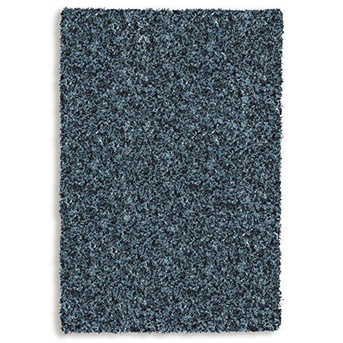 Preisvergleich Produktbild Hochflor Shaggy Teppich TWILIGHT 39001 5522 in Petrol/Blau - Größe: ca. 80x150 cm - Strapazierfähig und Pflegeleicht