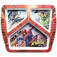 Zak Designs SDNU-0356 Marvel Comics 3-section Divided Plate for Kids, Spider-Man