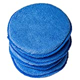 WildAuto - éponge Voiture Applicateur à La Cire Polonais , Applicateur éponge Pads De Cire - Pour nettoyer voitures véhicule, verre, Chaussures - Bleu (4 Pcs)
