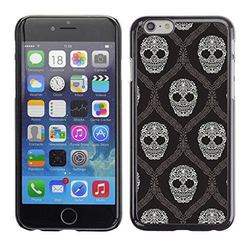 Graphic4You Lachend Schädel Totenkopf Design Harte Hülle Case Tasche Schutzhülle für Apple iPhone 6 / 6S Design #7