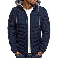 Nilesh Men's Coats Jackets,Winter Casual Fashion Pure Color Patchwork Jacket Zipper Outwear Coat (Nilesh JK63 XXL)