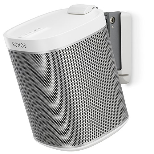 Flexson Tilt and Swivel Wall Mount for SONOS PLAY:1 with Fixing Kit - White
