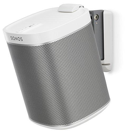 Flexson P1WM1011 Pared Blanco Soporte de Altavoz - Soporte para Altavoces (Pared, Blanco, Pared, 0-15°, 80°, Sonos Play:1)