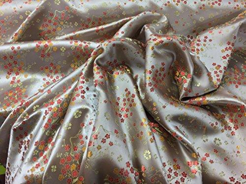 Prestige Stoffe Oriental Chinesische Seide Brokat Blossom Blumen, Hochzeit Kleid Outfit, Brautschmuck Abend Party Kleid Kleid, Jacken Meterware silber (Black Lace Kleid Kostüm Ideen)