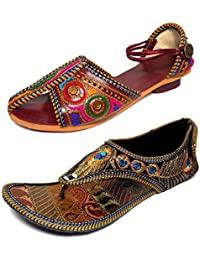 Thari Choice Womans Ethnic Wear Sandal Combo Pack