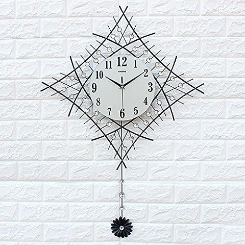 Reloj de pared del dormitorio sala de estar Continental decoración del hogar de manera creativa , white