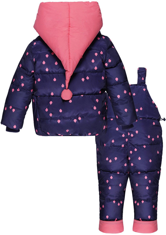 ZOEREA Chaquetas de Esquí para Bebé Niñas Traje de Nieve Abrigoscon Capucha + Pantalones + Bufanda Invierno Acolchado… 4