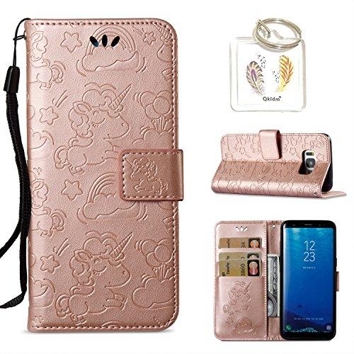 für Galaxy S8 Hülle Geprägte Muster Handy PU Leder Silikon Schutzhülle Handy case Book Style Portemonnaie Design für Samsung Galaxy S8 (5.8
