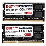 Komputerbay MACMEMORY 8GB (2x 4GB) DDR3 PC3-12800 1600MHz SODIMM 204-Pin Laptop-Speicher für Apple Mac