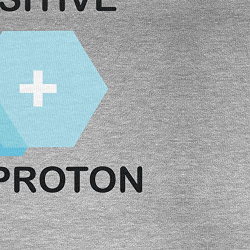 Planet Nerd - Be positive like a proton - Damen Kapuzenpullover Grau Meliert