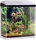 Sweetypet Fischbecken: Nano-Aquarium-Komplett-Set mit LED-Beleuchtung, Pumpe und Filter, 25 l (Garnelen-Aquarium)