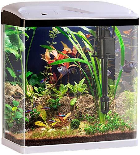 Sweetypet Fischbecken: Nano-Aquarium-Komplett-Set mit LED-Beleuchtung, Pumpe und Filter, 25 l (Aquarien)