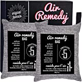 Air Remedy Bag Aktivkohle aus Bambus Luftreiniger 500g x 2, Auto Entfeuchter & Zuhause Lufterfrischer - Geruchsentferner - geruchsneutralisierer, raumentfeuchter