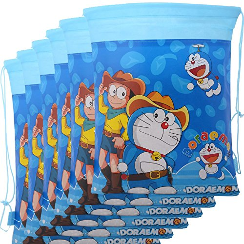 Asera 12 Pcs Doraemon Dori Bag Haversack Gift Bags For Birthday Return Gifts Kids