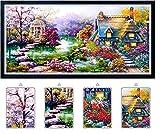 PRESENT Stickerei Diamant 5D – Mosaik Strass Leinwand Komplettset Französischer (Harry Potter 40 x 60 cm)