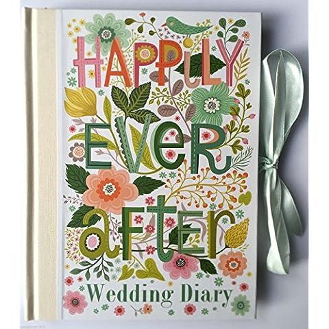 Planificador de boda con texto Happily Ever After (diario/organizador), regalo de compromiso