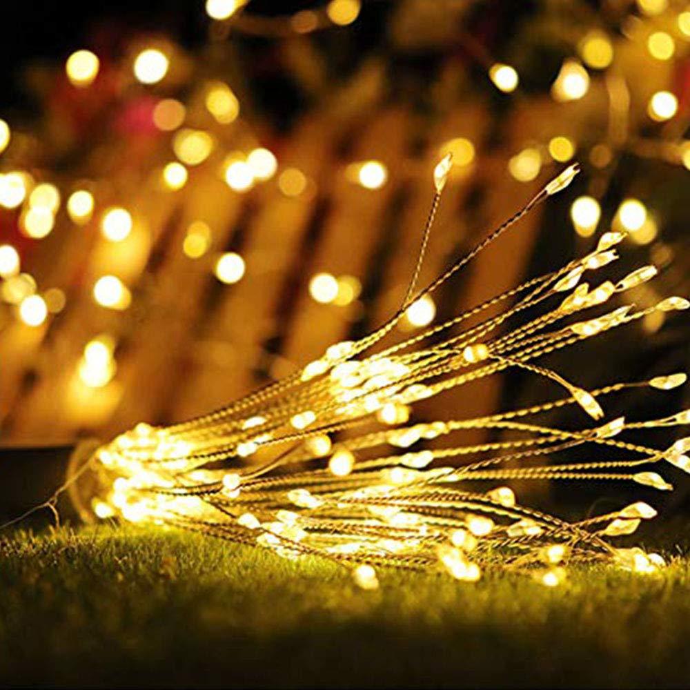 Luces Led De Fuegos Artificiales Alambre De Cobre 120 Luces Led A Prueba De Agua Flash De Navidad Sala De Control Remoto Jardín Terraza Boda