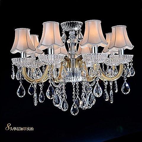 YUPX Lampadario Soffitto moderne tonalità di luce con effetto cristallo gioielli lampadari Lampada sospensione da soffitto,8Head-A