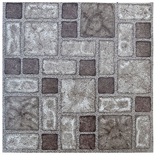 YöL Floor tiles self adhesive mosaic tile vinyl flooring kitchen bathroom 16 Tiles (16ft²)