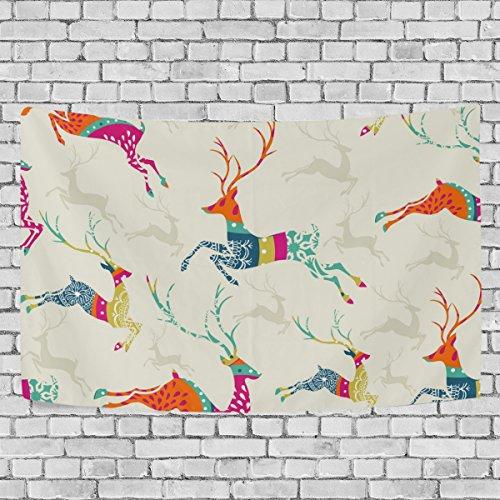 Coosun buon natale renna modello tapestry wall hanging arazzo casa decorarion per soggiorno camera da letto dorm decor, 90