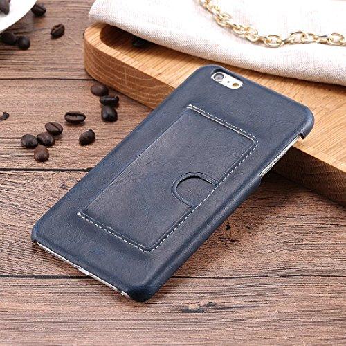 iPhone Case Cover Couverture en cuir PU de couleur unie avec porte-cartes style U pour iPhone 6 Plus 6S Plus ( Color : D , Size : IPHONE 6S PLUS ) B
