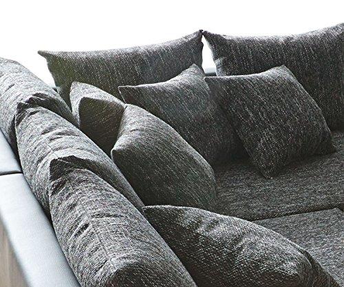 Couch Clovis Schwarz mit Hocker Wohnlandschaft Modulsofa - 5