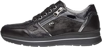 Nero Giardini A806414D Sneakers Donna in Pelle, Camoscio E Tela
