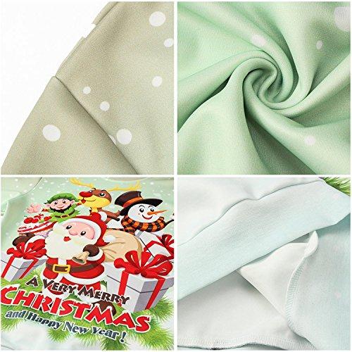 Pizoff Unisex Hip Hop Sweatshirts mit Bunt 3D Weihnachten Christmas Digital Printing Druckmuster AC017-08