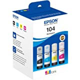 Epson 104 EcoTank Original - Epson 104 EcoTank, Black,Cyan,Magenta,Yellow, Epson, EcoTank ET-2715 EcoTank ET-2714 EcoTank ET-