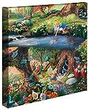 Thomas Kinkade Galerie-Leinwand, Disney Alice in Wonderland, 35,6 x 35,6 cm