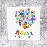 Fingerprint Fingerabdruckbild Aliesa Taufe Geburt