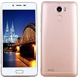 """Smartphone Telefono, 5.0"""" Ultrathin Android5.1 Octa-Core 3G + 32G 4G/GSM, Wi-Fi Bluetooth Doppia SIM Dual Camera Cellulare intelligente Cellulari Telefonia (Oro rosa)"""