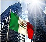 Xiton bandera mexicana 5 * 3 pies/150 * 90cm de poliéster bandera Perfecto para al aire libre y de la bandera grande cubierta México