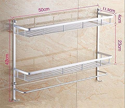 Bathroom Shelf Wall Mount Shower Shelf Towel Rack Toilet Storage Rack,The 2 floor