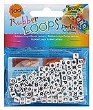 folia 33903 - Rubber Loops Buchstaben Perlen, 100 stück, weiß