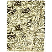 Nuevo tejido de chenilla suave moderno hojas flores Patrón Verde Color blanco tela de tapicería (por metro)