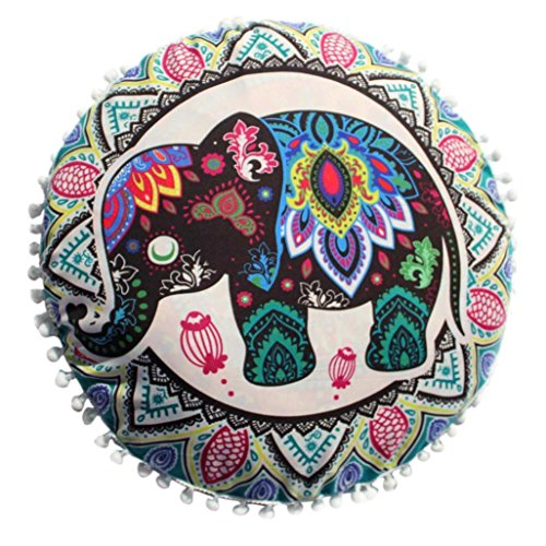 Funda Cojines, Xinan Indian Mandala Pillows Cojín casero bohemio redondo 43 * 43cm (A)
