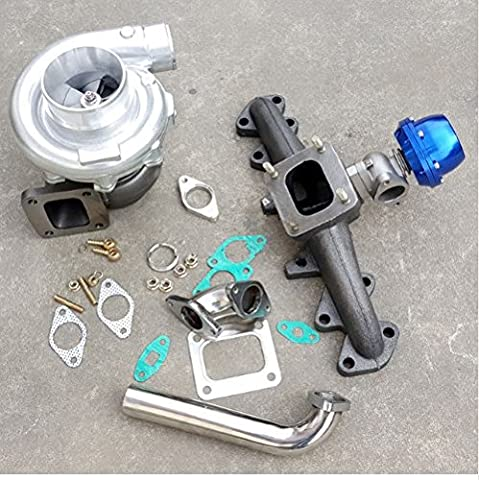 GOWE Exhaust Manifold+ wastegate for T4 Cast Exhaust Manifold+38mm wastegate+T4