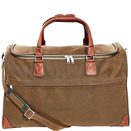 Reisetasche für Damen und Herren Veloursleder-Optik Reißverschluss separater Tragegurt Pack & Ride BUTLERS