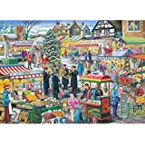 1000 Piece Jigsaw Puzzle - Find the Differences No.5 - 'Festive Market'