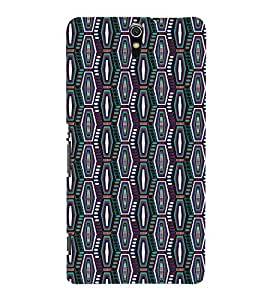 Fuson Colorful Pattern Case Cover for Sony Xperia C5 dual