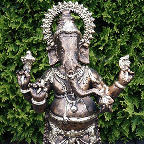 Goße Ganesha Figur Gold Bronze Optik Dekoration Skulptur Statue Dekofigur