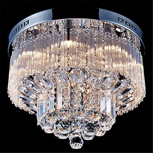 LIYONGDONG® Moderne K9 Crystal Raindrop Lustre Éclairage Encastré LED Plafond Luminaire Pendentif Lampe pour Salle à Manger Salle De Bains Chambre Salon 450 * 450 * 300 (mm) Modern Raindrop Kronleuchter