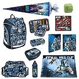 Star Wars Schulrucksack Set 19tlg. Federmappe gefüllt, Sporttasche, Schultüte 85cm Scooli Ranzen Twixter SWLS7550