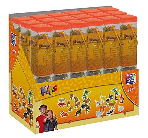 Tiere in Klarsichtröhre 3-6 cm groß NEU Happy People 43217 Kleinkindspielzeug