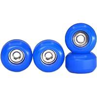 Lot de 4 Roues de palier de tuning Teak Tuning Polyuréthane Duromètre 100D Bleu Foncé