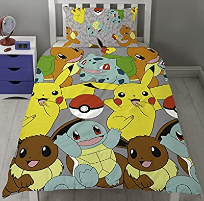 Pokemon Go Catch Single Rotary Duvet Cover Set Inc. Pillowcase produced by Character World - quick delivery from UK.